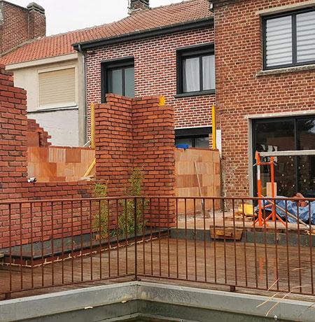 Construction d'extension de maison à Valenciennes